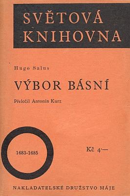 Obálka (1927) výboru z jeho poezie, pojatého do slavné edice Světová knihovna (Nakladatelské družstvo Máj