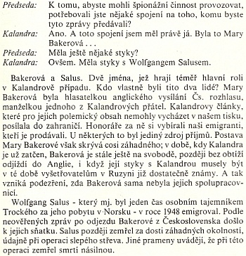 """Jméno Salus se objevilo i v procesu s Miladou Horákovou a spol. - ve výslechu Záviše Kalandry figuruje básníkův syn Wolfgang, """"trockista a emigrant"""""""