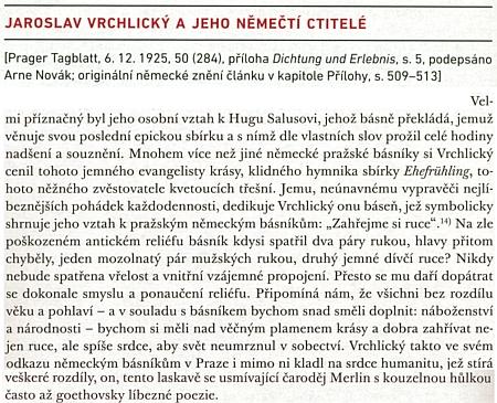 O Salusově vztahu k Jaroslavu Vrchlickému tu píše Arne Novák
