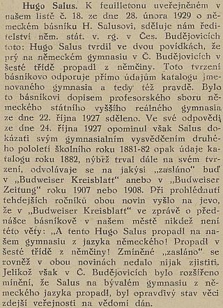 K jeho údajnému budějovickému propadnutí z němčiny (viz i Johann Endt)