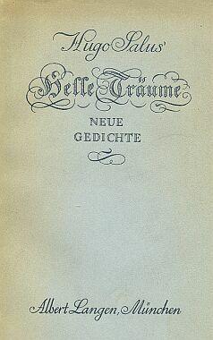 Obálka (1924) knihy vydané v Mnichově nakladatelstvím Albert Langen