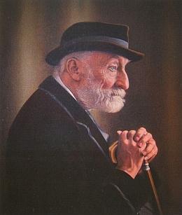 Na obraze, jehož autorem je Karl Buchta (1861-1928)