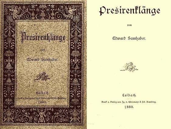 Obálka a titulní list (1980) knihy překladů ze slovinského klasika, vyšlé v Lublani