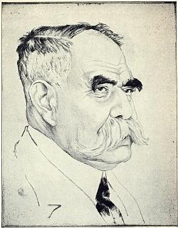 Na litografii Emila Orlika...
