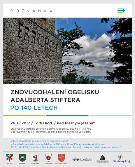 Pozvánka na oslavy 140 výročí odhalení obelisku...