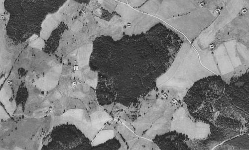 Horní Příbraní na leteckých snímcích z let 1949 a 2011