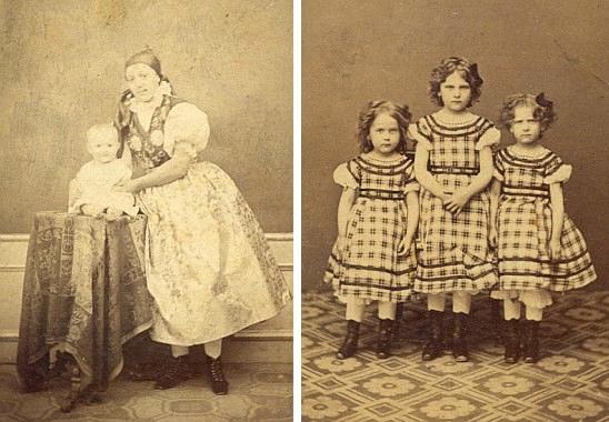 Constanze v dětství s chůvou a oběma svými sestrami