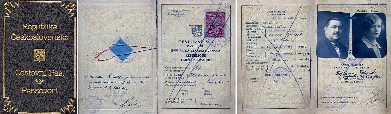 Cestovní pas jeho zaměstnavatele Höflingera a jeho ženy