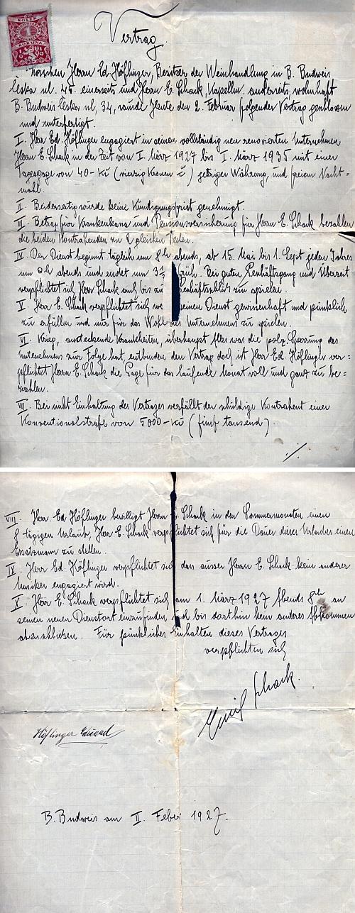 Smlouva s panem Höflingerem