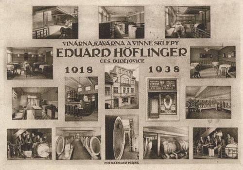 Pohlednice vinárny u Höflingerů