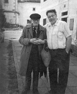 S bývalým svým žákem z Rychnůvku Erwinem Geretschlägerem veFrymburku několik let před smrtí