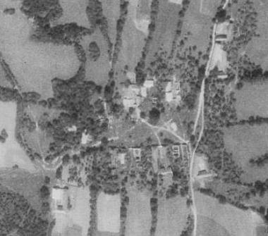 Malonín na leteckých snímcích z let 1952 a 2008