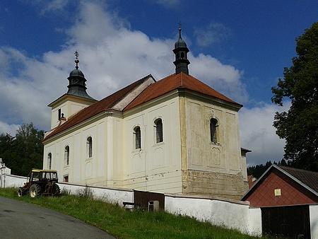 Kostel sv. Filipa a sv. Jakuba v rodných Frantolech
