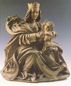 Madona ze Svatého Tomáše - podunajský mistr po r. 1500 (pohlednice)