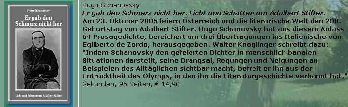 Inzerát na jeho knihu básní ke Stifterově roku 2005