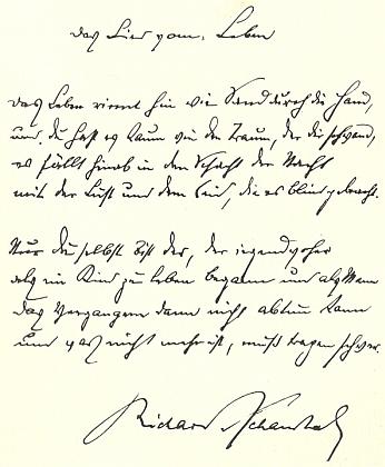 Rukopis jeho básně Píseň o životě