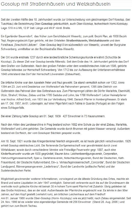 Jeho syn Jürgen Schart (*1970) je autorem tohoto textu o Horních Kozolupech v dnešním okrese Tachov na webových stránkách krajanského sdružení Heimatkreis Plan-Weseritz, tj. někdejší okres Planá-Bezdružice