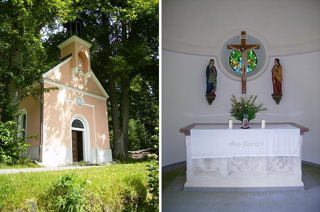 Kaple u rodného Holzschlagu na snímcích z roku 2011