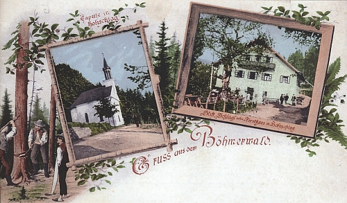 """Holzchlag měl i svou vlastní barevnou """"šumavskou"""" pohlednici"""