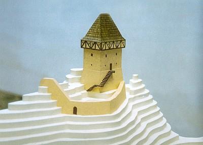 Plán a rekonstrukce hrádku na Stožecké skále nad rodným Stožcem
