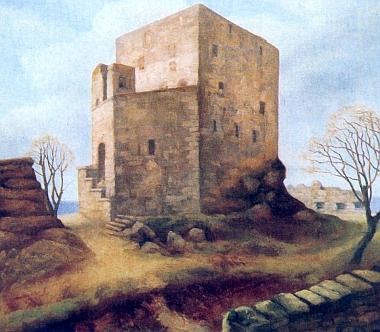 Takto, jako zde na výřezu malby Wilhelma Fischera, zůstal jistě Vítkův Kámen uchován v jeho paměti