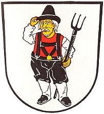 Znak jeho rodiště Schlottenhof, místní části města Arzberg     v hornofranckých Smrčinách (Fichtelgebirge)