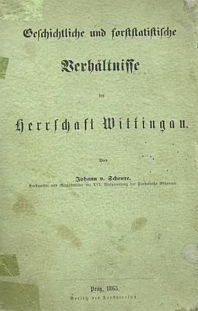 Vazba knihy o schwarzenberském panství Třeboň, jejímž autorem byl Johann von Scheure