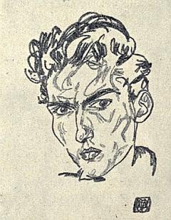 Tady je na jeho portrétní kresbě zachycen Hugo Sonnenschein, který zahynul vkomunistickém vězení Mírov v květnu roku1953