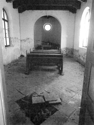 Vnitřek křesanovské kaple na snímku z roku 2014