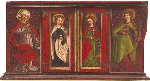 Oltář kostela sv. Jiří pochází z let 1500-1510 a je dnes součástí sbírek Alšovy jihočeské galerie v Hluboké nad Vltavou