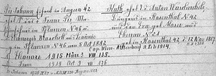 """Tady matriční index (rodový katastr) farní obce Rožmitál na Šumavě zaznamenal jeho rodinu a jeho psaného příjmením """"Šír"""" i s tím háčkem ačárkou jako železničáře v Bujanově čp. 32"""