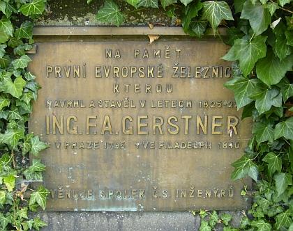 Pamětní deska F. A. Gerstnera v Rybníku