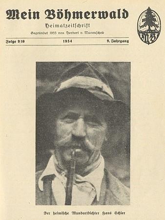 Na titulní straně časopisu Mein Böhmerwald (1954)