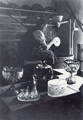 Brusič skla ve Stögerově Huti