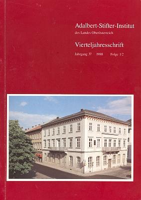 Obálka čísla čtvrtletníku Institutu Adalberta Stiftera v Linci se Schiffkornovým nekrologem od Johanna Lachingera zachycuje úmrtní dům Stifterův a zároveň sídlo ústavu, věnujícího se dílu šumavského klasika