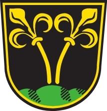Znak bavorského města Traunstein, kde zemřel a kde je ipochován