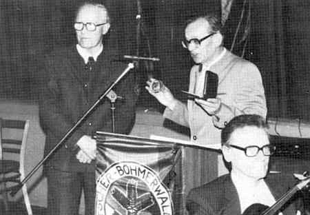"""V listopadu 1984 mu byla v Pasově udělena """"Josef-Taschek-Medaile"""""""