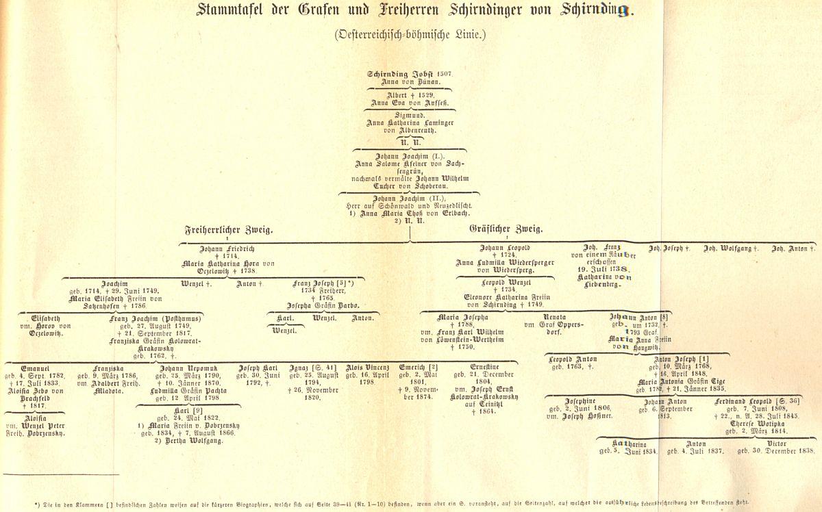 Rodokmen svědčí o spřízněnosti s českými rody Kolowratů a Dobrzenských