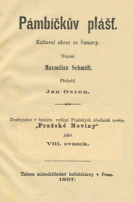 Titulní list českého překladu jedné z jeho knih (1897)