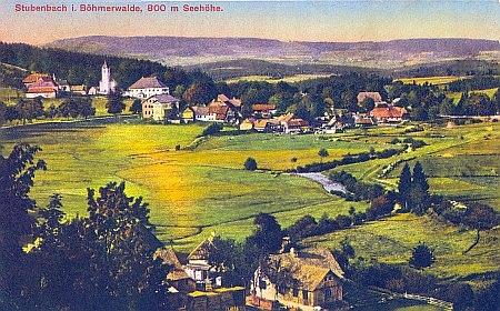 Rodné Prášily na staré pohlednici...