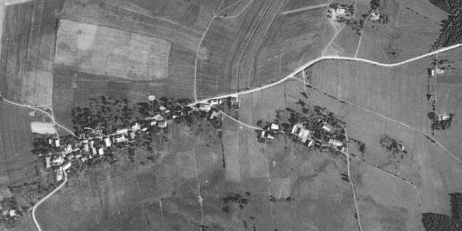 Liščí na leteckých snímcích z let 1949 a 2008