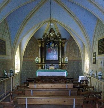 Interiér kaple sv. Anny