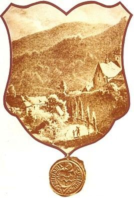 Staré zobrazení a pečeť městečka Rožmitál na Šumavě