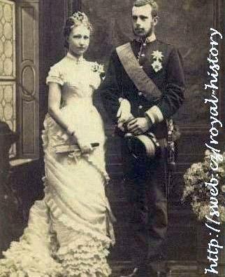 Snímek ze zásnub korunního prince Rudolfa s princeznou Stefanií