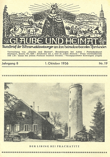 """Tady kdosi přidal na obálce krajanského čtrnáctideníku Libínu německou koncovku a je z něho """"der Libing"""""""
