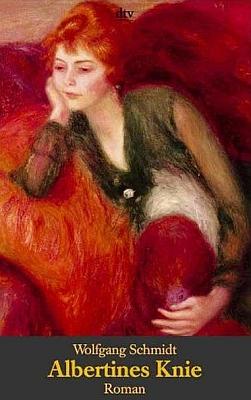 """Obálka (1998) jednoho z vydání jeho románu """"Albertines Knie"""" rovněž v edici """"dtv"""" s použitím obrazu Augusta Renoira"""