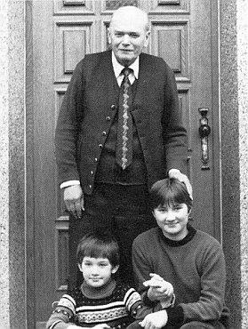 S vnuky Herbertem a Claudií sedmdesátiletý