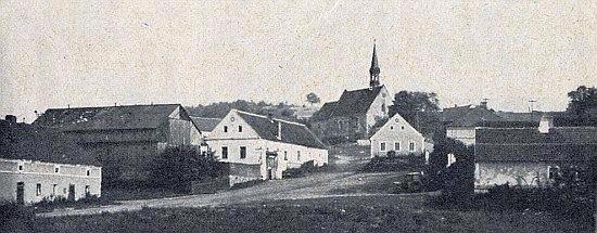 Kostel sv. Martina v Racově, kam se z Darmyšle chodívalo prosit o ochranu domácího zvířectva