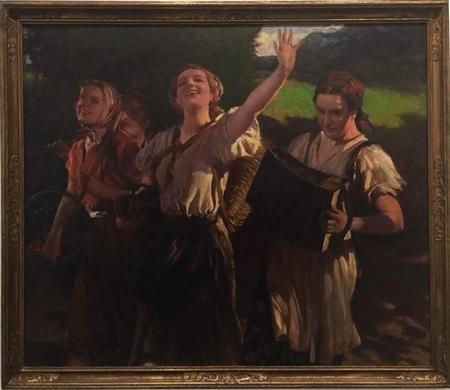 """Jeho obraz """"Jungfrauen nach der Arbeit"""""""