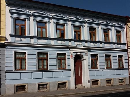 Dům v dnešní Dvořákově ulici, kde zemřel